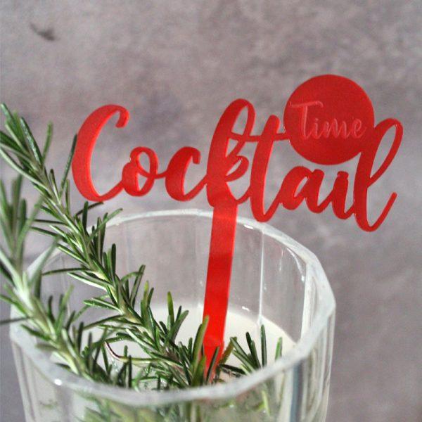 Drinkspind tekst cocktail time