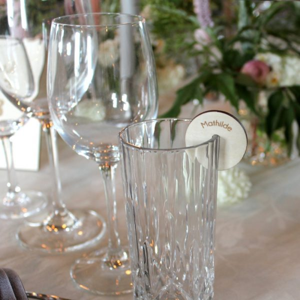 Bordkort glas birk