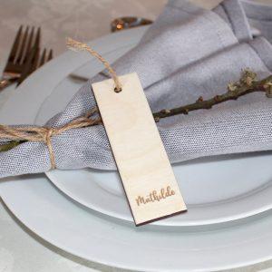 Bordkort smal og aflang birk