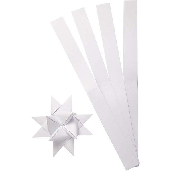 Stjernestrimler hvid