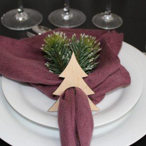 Servietringe juletræ