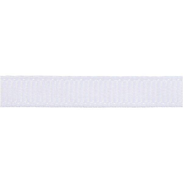 Grosgrainbånd hvid