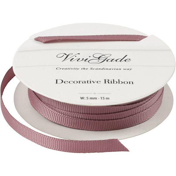 Grosgrainbånd rosa