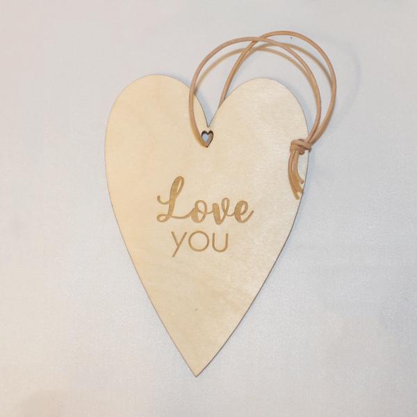 Love you træhjerte