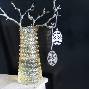 Æg med mønster træ