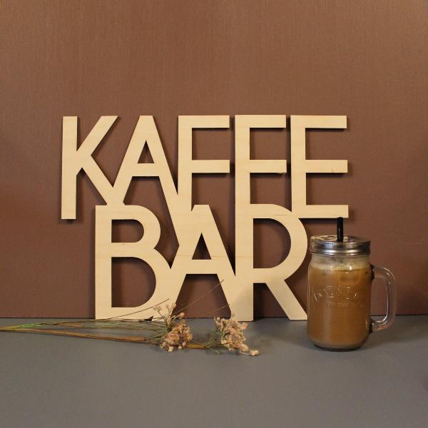 Kaffebar skilt tekst ophæng