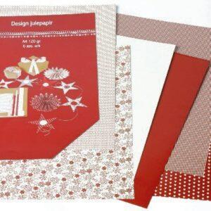 Design julepapir 6 ass A4 120 grams