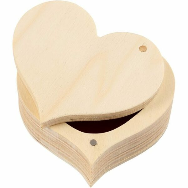 Hjerteformet trææske