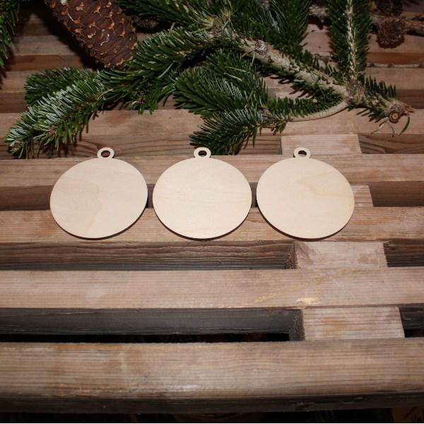 Julekugler uden navn i birk, 3 stk